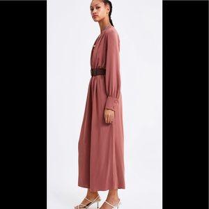 Zara Belted Jumpsuit